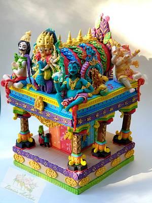 Hindu Temple Sri Lanka Challenge - Cake by Denisia Savin