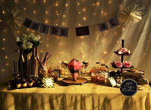 PDCA Caker Buddies Dessert Table Collaboration- Gliterrati bachelorette - Cake by TheChocolateFactory by Nehmat