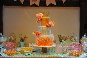 """Weddingcake """"Color Concept"""" - Cake by Torteneleganz"""