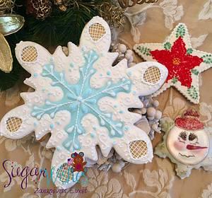 Snowflakes - Cake by Tina Tsourtsoulas