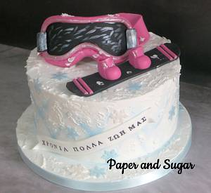 Snowboard cake - Cake by Dina - Paper and Sugar