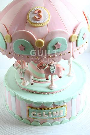 Carousel Cake - Cake by Guilt Desserts