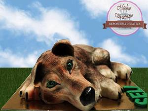 Tart 3D baby of wolf - Cake by Machus sweetmeats