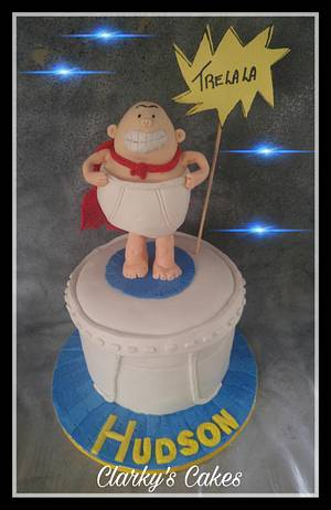 """CAPTAIN UNDERPANTS CAKE - Cake by June (""""Clarky's Cakes"""")"""