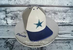 Dallas Cowboys cap - Cake by Amy'z Cakez & Sweetz
