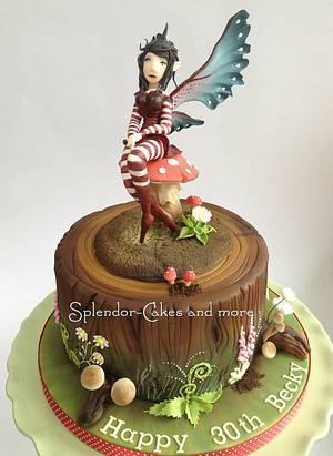 The 'Fairy Brat' inspired by Amy Brown - Cake by Ellen Redmond@Splendor Cakes