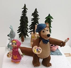 Masha and the Bear - Cake by kili