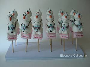 Olaf Marshmallow pops - Cake by Eleonora Calignano