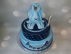 First birthday cake. - Cake by Pluympjescake
