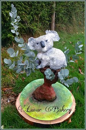 Koala in Eucalyptus Cake - Cake by Lunar Bakery
