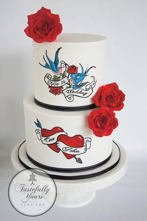 Rockabilly Wedding - Cake by Marianne: Tastefully Yours Cake Art