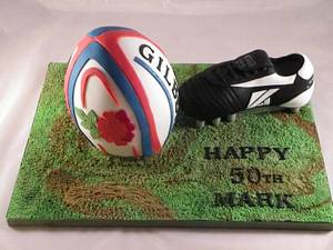 Rugby Ball - Cake by Kazmick