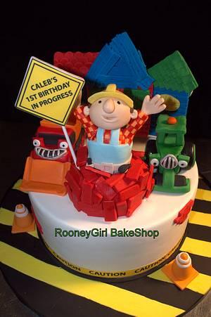 Bob The Builder Birthday Cake - Cake by Maria @ RooneyGirl BakeShop