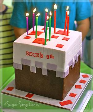 Minecraft Cake Cake - Cake by lorieleann