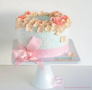 Shabby Chic Sweet 16 Cake - Cake by Angela, SugarSweetCakes&Treats