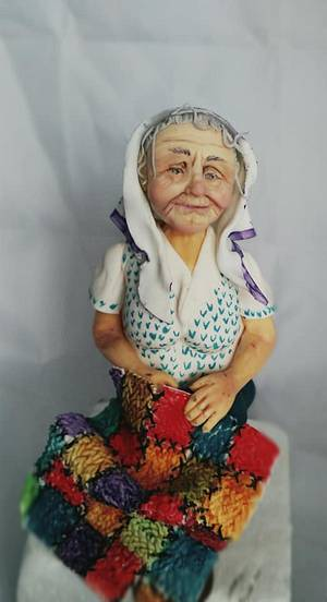 old woman - Cake by Silvia Ricciato