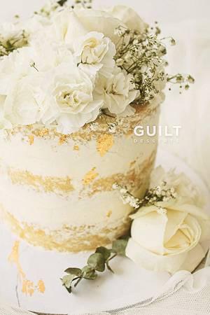Naked White Cake - Cake by Guilt Desserts