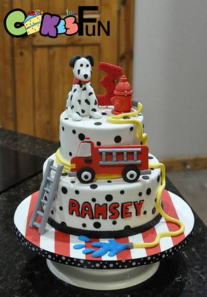 Fire truck cake - Cake by Cakes For Fun