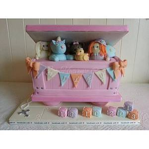 Baby Pink Toy Box  - Cake by Bobbie-Anne Wright (For Heaven's Cake)
