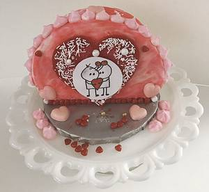 """Happy Valentine's Day  - Cake by June (""""Clarky's Cakes"""")"""