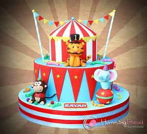Circus Cake for Zayan - Cake by HummingBread