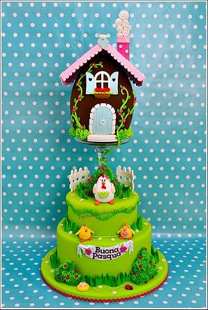Easter Egg House Cake - Cake by Cecile Crabot