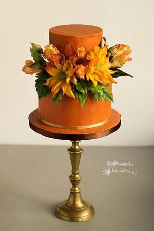 Sunny colours - Cake by Katarzynka