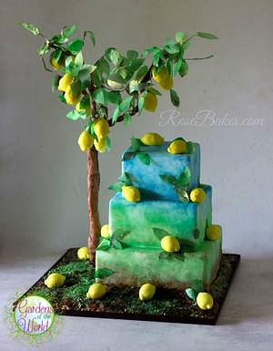 Lemon Tree Cake - Gardens of the World Cake Collaboration - Cake by Rose Atwater
