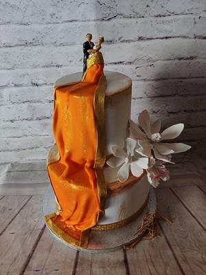 Saree Drape Engagement Cake - Cake by Dr RB.Sudha