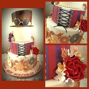 Steampunk 16th - Cake by Karen Bryant