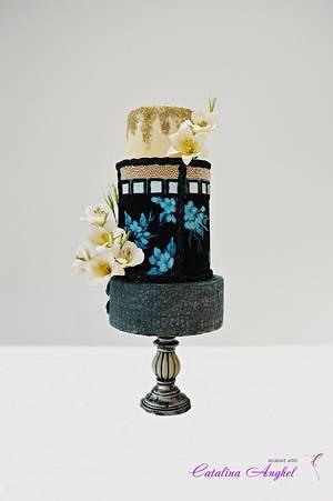 Carnival Cakers collaboration- Mardi Gras themed wedding cake - Cake by Catalina Anghel azúcar'arte