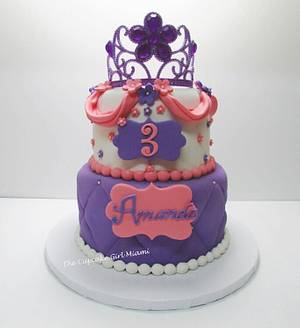 Sofia the first inspired cake - Cake by Lilly