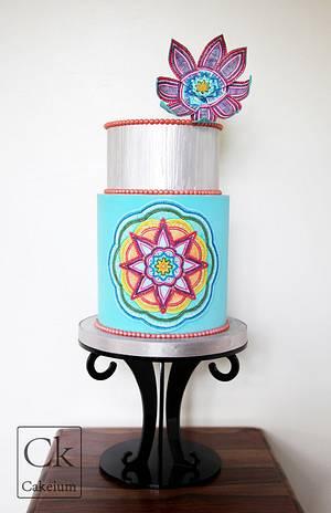 Mandala Cake Project  - Cake by Natasha Shomali
