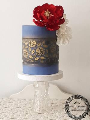 L' amour en bleu - Cake by Silvia Caballero