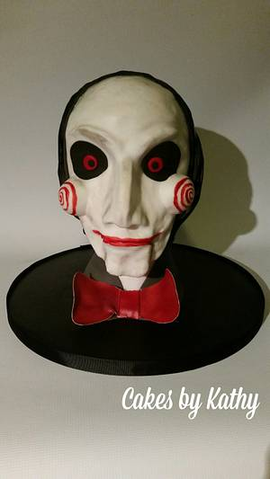 Billy the puppet from the horror movie 'Saw' - Cake by CakesbyKathy