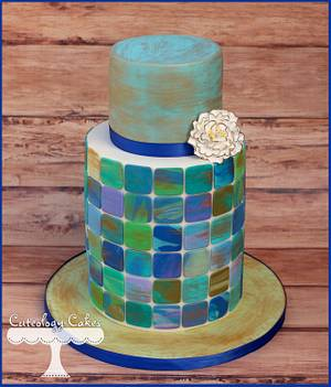 Mosaic Cake - Cake by Cuteology Cakes