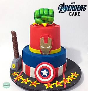 Torta Superhéroes Medellín - Cake by Dulcepastel.com
