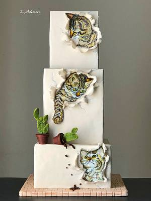 Three Little Kittens cake...…. - Cake by More_Sugar
