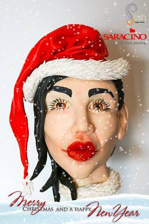 I wish you a Merry Christmas and a Happy New Year! - Cake by Pepper Posh - Carla Rodrigues