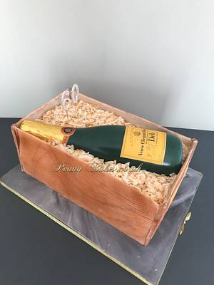 Veuve Clicquot cake! - Cake by Penny Sue