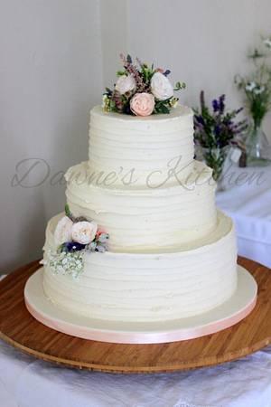 Vintage Buttercream Wedding cake - Cake by Dawne's Kitchen
