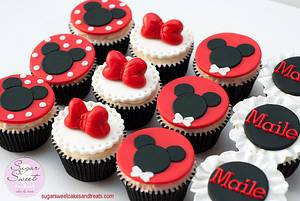 Minnie n' Mickey Mouse Cupcakes - Cake by Angela, SugarSweetCakes&Treats