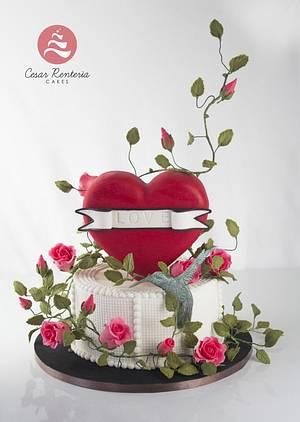 San Valentin - Cake by Cesar Renteria Cakes