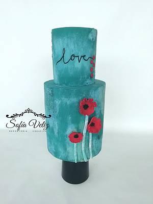 Cake Love - Cake by Sofia veliz