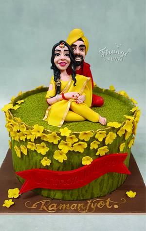 Rustic Romance - Cake by firangihalwai