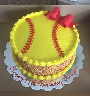 Softball Cake - Cake by Julie