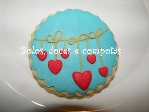 St Valentine's cookies - Cake by bolosdocesecompotas