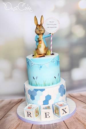 Peter Rabbit Christening Cake - Cake by DusiCake