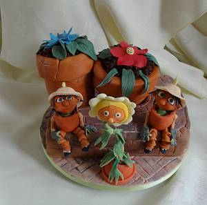 Flobbalop and Little Weeeeeed .. anyone remember these? - Cake by Fifi's Cakes