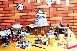 PDCA Dessert Table Collaboration- Harry Potter  - Cake by Luscious Bakes by Rashmi